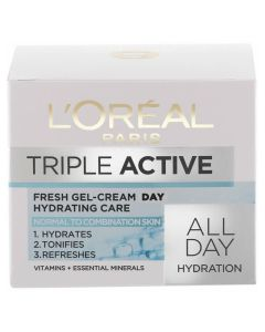 Loreal Triple Active Super Hydrating Fresh Gel-Cream - normal to combination skin 50 ml