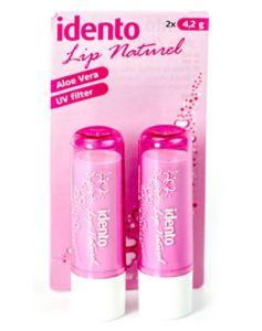 Idento Lip Naturel, Aloe Vera 2pak (Pink)