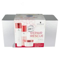 BC Bonacure Repair Rescue X-MAS Box med Shamp, Spray Cond og Treat