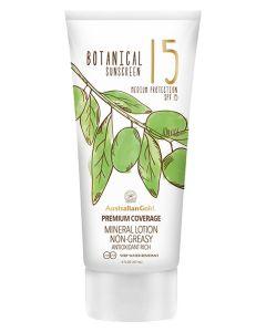 Australian Gold Botanical Sunscreen SPF15 Mineral Lotion Non-Greasy 147 ml