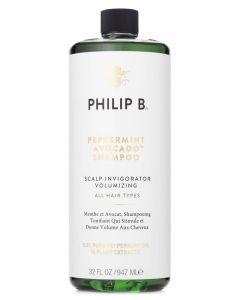 Philip B Peppermint & Avocado Shampoo (gratis pumpe) (N) 947 ml