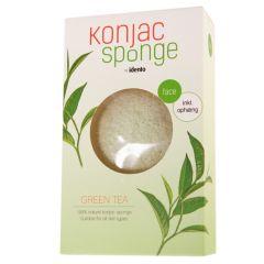 Idento Konjac Tør Svamp - Halfball - Green Tea