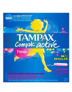 Tampax Compak Active - Fresh Regular 20 stk