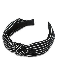 Everneed hårbøjle Kara stribs - black