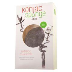Idento Konjac Tør Svamp - Halfball - Bamboo Charcoal