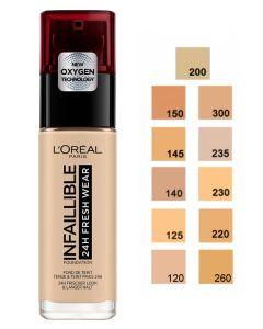 Loreal Infallible Stay Fresh Foundation - Honey 235 30 ml