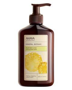 AHAVA Velvet Body Lotion - Tropical Pineapple & White Peach 400 ml