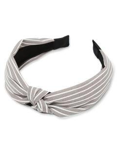 Everneed hårbøjle Kara stribs grey