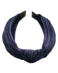 Everneed hårbøjle Daniella Plissé - Marineblå