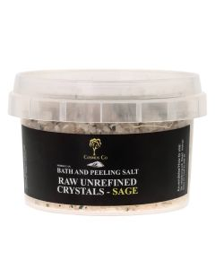 Cosmos Co Bath And Peeling Salt Raw Unrefined Crystals - Sage (U)